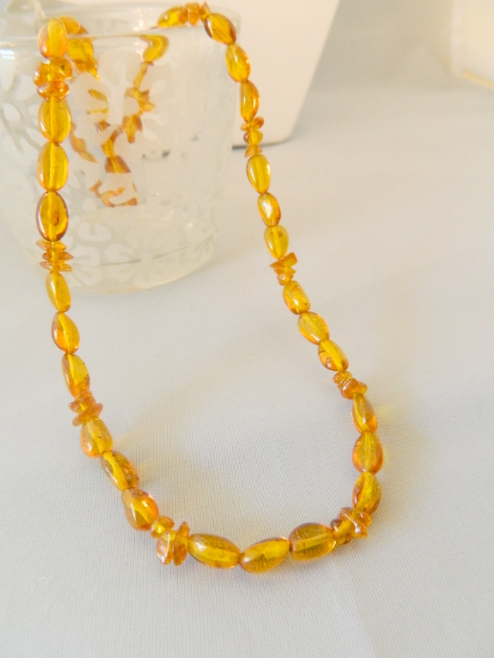 amber chip and nugget necklace arden jewelry design