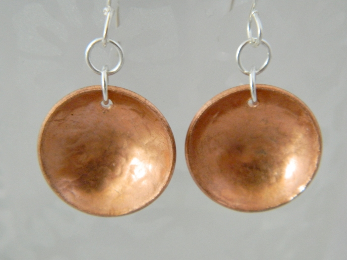 Arden Jewelry Design hammered copper earring