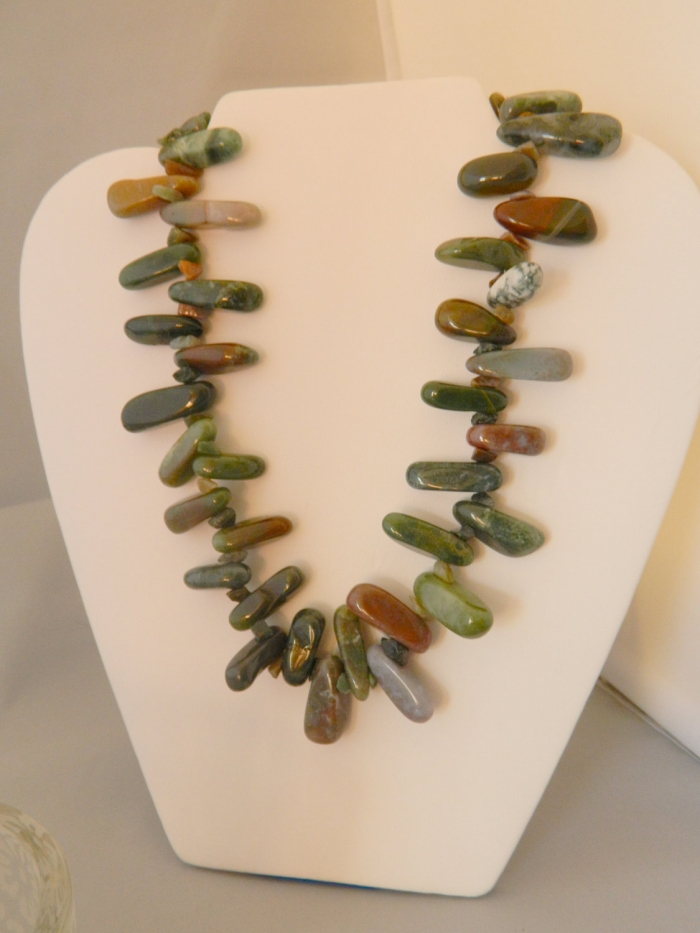 Arden Jewelry Design green jasper necklace