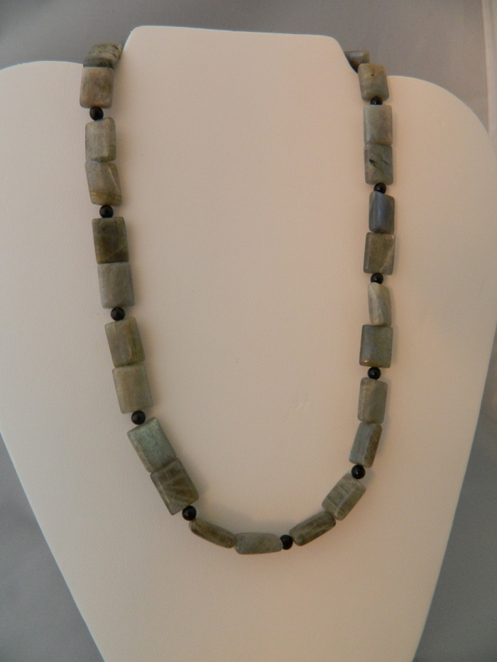 Arden Jewelry Design labradorite and onyx necklace