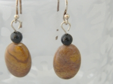 Arden Jewelry Design peanut jasper and onyx earring