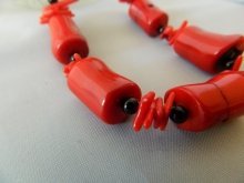 Arden Jewelry Design coral and onyx necklace