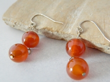 Arden Jewelry Design double carnelian earring